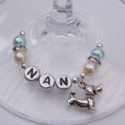Sausage Dog Personalised Wine Glass Charm - Elegance Style